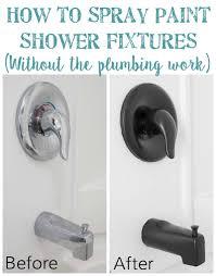 Painting Bathroom Fixtures How To Spray Paint Shower Fixtures