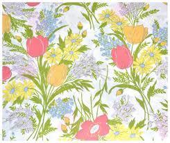 circa 1960s dan river fl bouquet dantrel no iron twin flat sheet