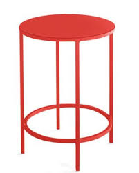 slim round end table by room board