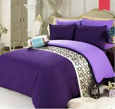 dark purple single size bed sheet quilt cover pillow case bedding bed set