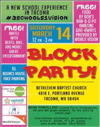 Block Party Flyer Block Party Flyer Green Dot Public Schools Washington State