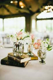 Mercury glass wedding centerpieces.