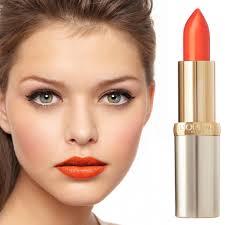 loreal paris lipstick color riche 163 orange magique