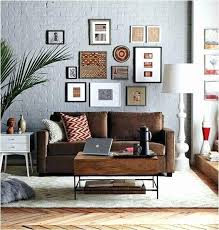 brown and grey living room wild