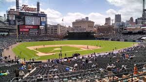 seat view for comerica park tiger den 125