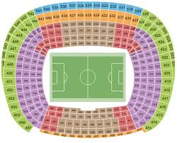 Fc Barcelona Seating Chart Camp Nou Seating Charts For All 2019 Events Ticketnetwork