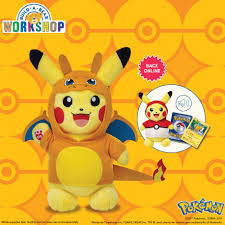 Make-Your-Own Pikachu is available online and in stores! Each one comes  with a Build-A-Bear Workshop Exclusive Pokémon Tr… | Pokemon, Pokemon  birthday, Build a bear