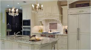 tile and wood cozy recessed kitchen cabinets cream colored cabinets tile backsplash