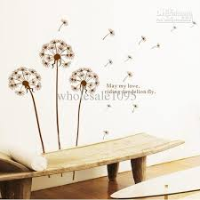 removable dandelion flower wall decoration tree in the wind wall art on wall art decals with removable dandelion decals wall mural wall art wall stickers living