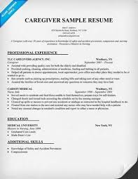 Caregiver Sample Resume Delectable Caregiver Resume Samples Examples How To Write A Caregiver Resume