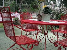 metal furniture plans. Ideas Red Patio Chairs And Metal Furniture Black Pertaining To Decor 13 Plans D