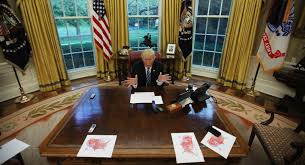 pictures of oval office. us president donald trump speaks during an interview with reuters in the oval office of pictures r