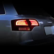 avant lighting. 05-08 Audi B7 A4/S4 Avant Smoked Housing Red Lens 3D LED Rear Tail Brake + Corner Signal Light Lighting C