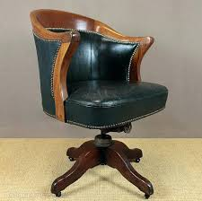 leather antique wood office chair leather antique. Antique Style Leather Desk Chair Wood Office I