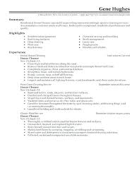 Classic Resume Example Gorgeous Example Of Janitorial Resume And Classic Resume Example Janitor