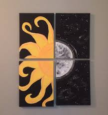 Sun and moon canvas painting  Couple PaintingDiy ...