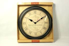 inch vintage port wine wall clock new open box chaney instruments wall k ks outstanding medium image for weathered instruments rustic chaney clock