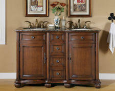 Wood Bathroom Cabinet And Double Granite Vanity Tops With Vessel Vanity Tops With Double Sink