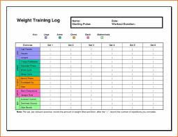 Personal Training Tracking Sheet Workout Training Sheet Personal