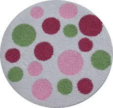 polka dot round rug zoom