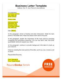 Formal Letter Format To Company Sample Business Letter Format 75 Free Letter Templates Rg