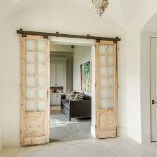 french doors for home office. Home Office With Distressed Sliding Doors On Rails French For R