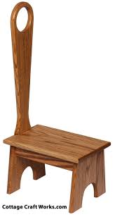 Wooden step stool with handle Folding Cottage Craft Works Wooden Step Stool With Tall Handle For Kids Or Little People