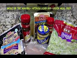 optavia lean and green meal prep meals