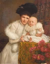 Portrait of Mrs Jane oConnor and her son John martin oConnor by Charles  Russell on artnet