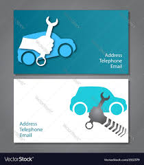 Business Card For Auto Repair Royalty Free Vector Image