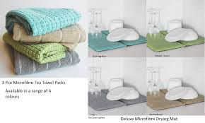 Duck Egg Blue Bathroom Accessories New Bambury Deluxe Dish Drying Mat Or 3 Pce Microfibre Kitchen Tea