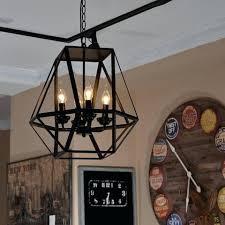 real candle chandelier lighting antique black metal hanging lantern light with 4 lights