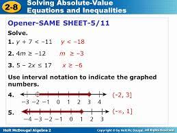 solving absolute value equations worksheet algebra 2 inspirational