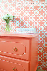 coral furniture. Dresser Painted In Ardent Coral Sherwin Williams. Sarah M. Dorsey Designs Furniture