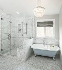 traditional bathroom tile ideas. Traditional Bathroom Tile Ideas With Gray Window Shade Floor