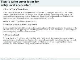 Sample Cover Letter For Entry Level Job Sample Cover Letter For Entry Level Job Entry Level Accounting Cover