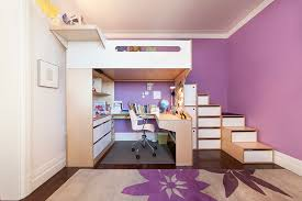 beds with desks underneath them.  With Katherine On Beds With Desks Underneath Them I