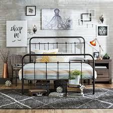 NEW Queen Size Metal Rustic Metal Bed Frames Great Black Queen Bed ...