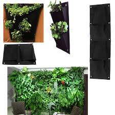 indoor outdoor wall balcony herbs garden hanging planter bag plant pots boxes