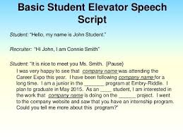 Elevator Pitch Examples For Students Template Elevator Pitch Template For Students Sample Speech Example