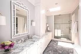 transitional bathroom ideas. Wonderful Bathroom White And Grey Marble Bathroom Transitional  Tile Ideas In