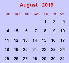 August Calandar August 2019 Holidays Thematic Teaching Ideas