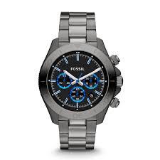 retro traveler chronograph smoke stainless steel watch fossil retro traveler chronograph smoke stainless steel watch