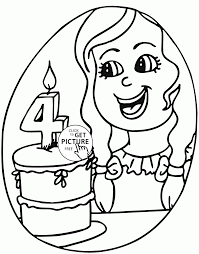 Small Picture Birthday Girl Coloring Page For Kids Holiday Coloring Pages