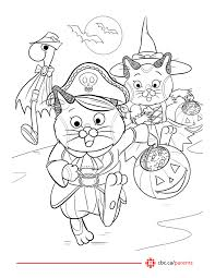 Free Printable Halloween Colouring Pages Featuring