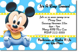 Free Printable Baby Mickey Mouse Invitations Mickey Mouse Baby Shower Invitations Printable Mickey Mouse Baby