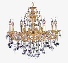 european style retro golden chandelier lighting lamp luxury lighting png image and clipart