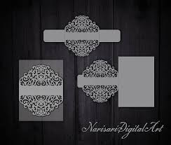 5x7 border template cricut wedding invitation belly band card template 5x7 lasecut