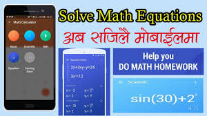 in nepali scientific calculator with mathematics equation solver for students