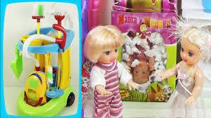 Детский <b>игровой набор для уборки</b> в тележке. Мультик с куклами ...